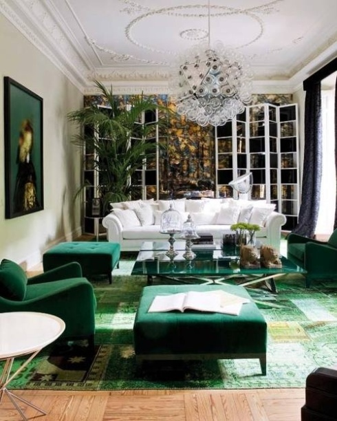 Accenting with Emerald green.