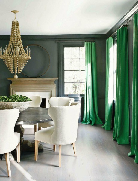 Bold curtains on a neutral backdrop