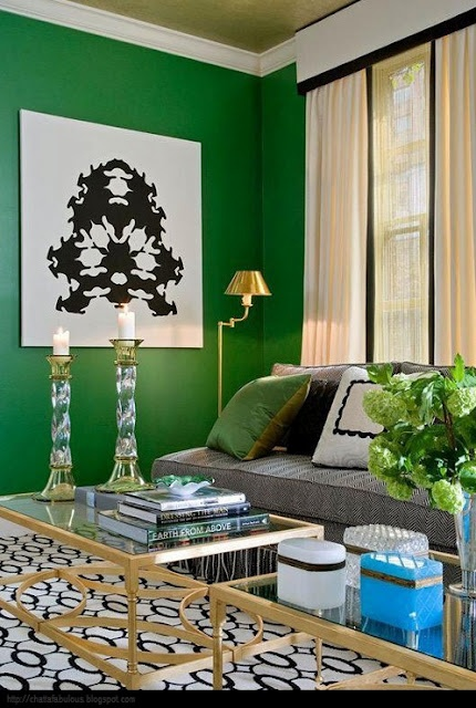 Emerald green walls
